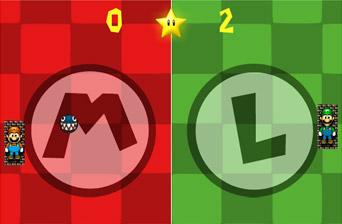 Марио и Луиджи понг
