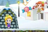 Эльза и Анна в поисках конфет